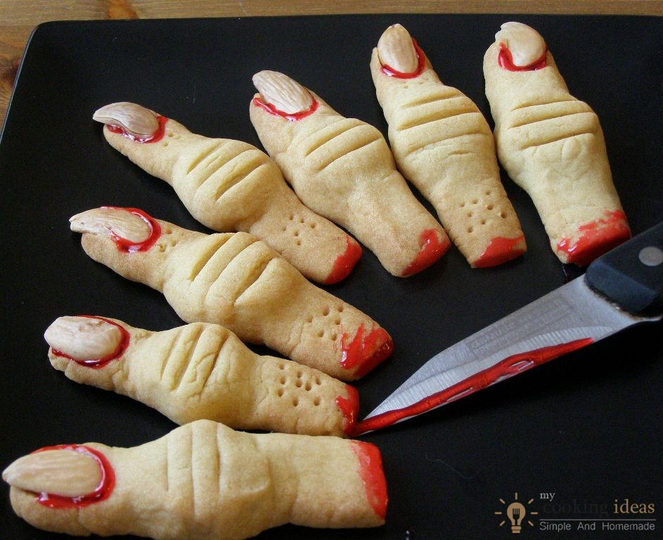 Creepy Monster's Finger Cookies | My Cooking Ideas