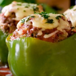 Bell Peppers Stuffed With Mushrooms