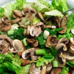 Cool Spring Salad With Fresh Mushrooms